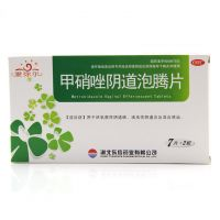 ,甲硝唑阴道泡腾片,0.2g*14片/盒,用于厌氧菌性阴道病,滴虫性阴道炎及混合感染