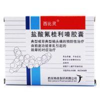 西比灵,盐酸氟桂利嗪胶囊,5mg*20粒,用于对典型(有先兆)或非典型(无先兆)偏头痛的预防性治疗