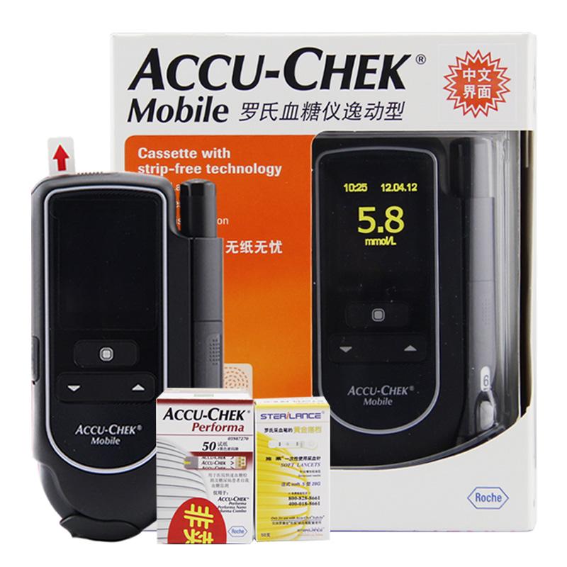 罗氏,血糖仪逸动型,,适用于糖尿病患者家庭检测血糖指数