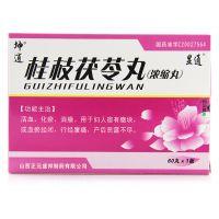 显通,桂枝茯苓丸, 60丸*1板/盒,用于妇人宿有癥块或血瘀经闭,行经腹痛,产后恶露不尽