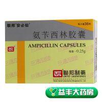 安必仙,氨苄西林胶囊,0.25克*36粒,用于呼吸道感染,泌尿系统感染,消化道感染等