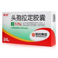 哈药,头孢拉定胶囊,0.25克*24粒,适应症为用于敏感菌所致的急性咽炎、扁桃体炎、中耳炎、泌尿生殖道感染等等