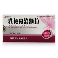 江西民济,乳核内消颗粒,10g*5袋,用于经期乳胀痛有块,月经不调或量少色紫成块及乳腺增生