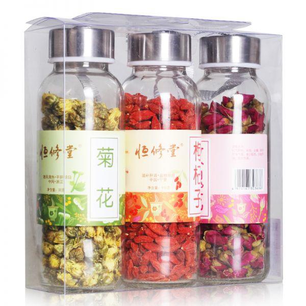 玫瑰花+菊花+枸杞 3瓶