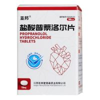 亚邦,盐酸普萘洛尔片,10毫克*100片 ,用于控制甲状腺机能亢进症的心率过快,也可用于治疗甲状腺危象