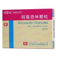 ,阿莫西林颗粒 ,0.125g*12包,适用于敏感菌(不产β内酰胺酶菌株)所致的各种感染